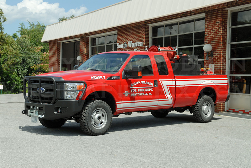 South Warren Volunteer Fire Department<br /> Warren County, VA<br /> Brush 3<br /> 2011 Ford F350/Slagle's/Department 400/250/5