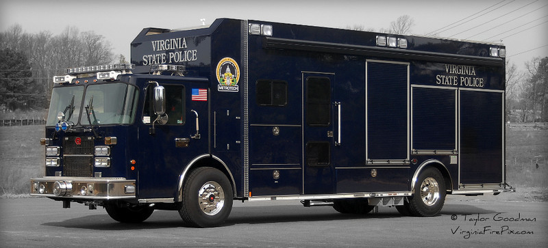 Likely the only law enforcement vehicle in Virginia with a Roto-Ray, this Spartan/Rosenbauer will serve as the 7th Division (Fairfax) OED vehicle for the Virginia State Police.  It's one of six identical units built for various fire & law enforcement agencies in the National Capitol Region.