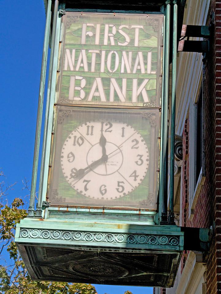 First National Bank clock of Bar Harbor