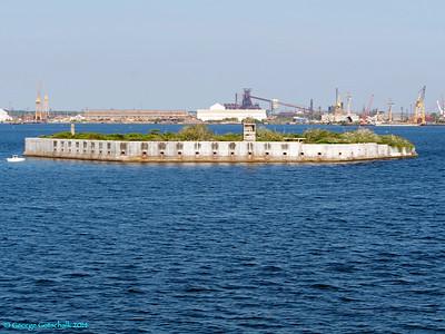 Fort guarding Baltimore Harbor