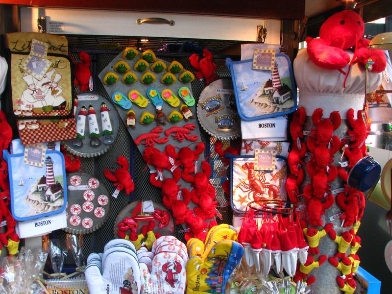 Kiosk in Boston's Quincy's Market.