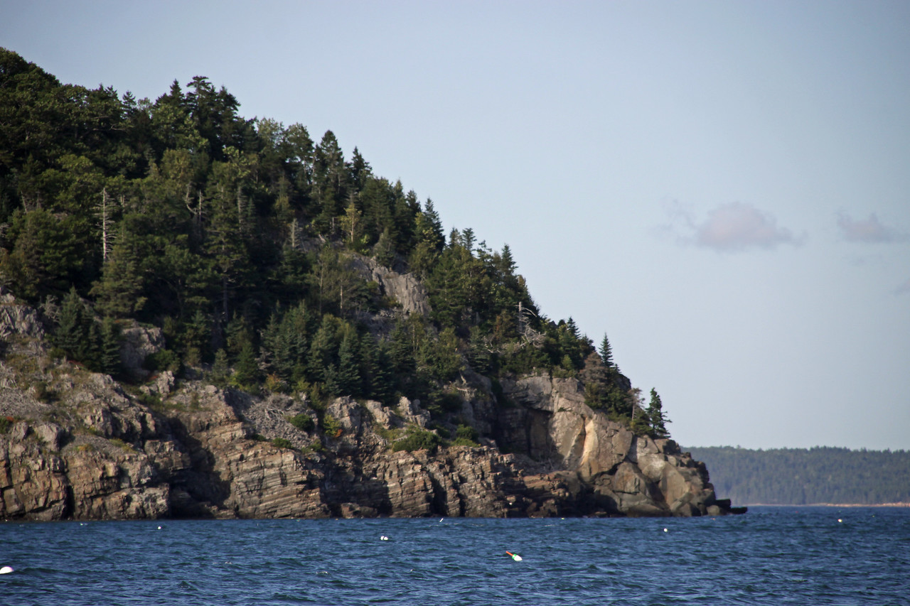 Bar Harbor coastline.