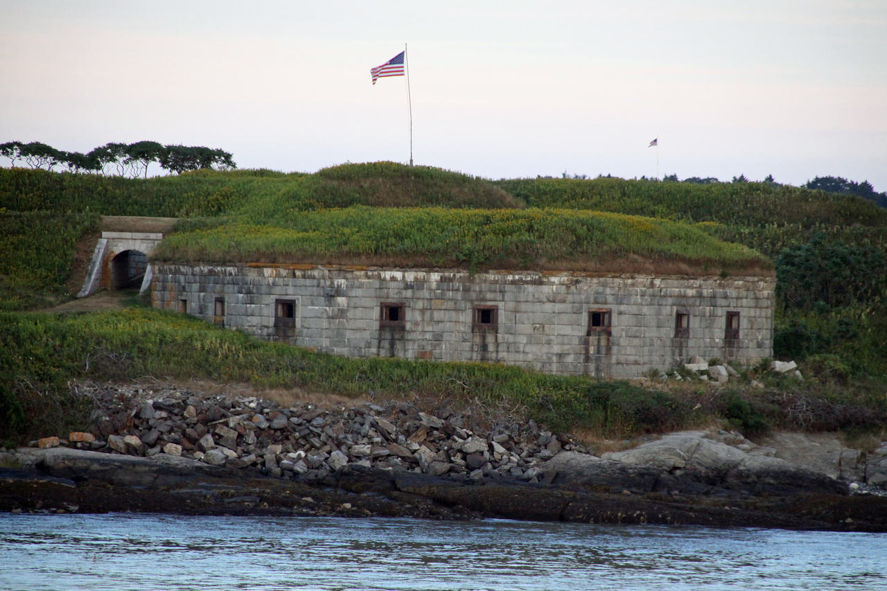 Old fort guarding the entrance to Portland Harbor.