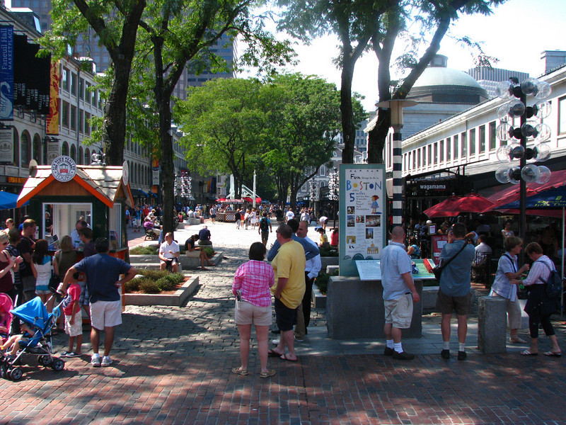 Outside view of Quincy Market.