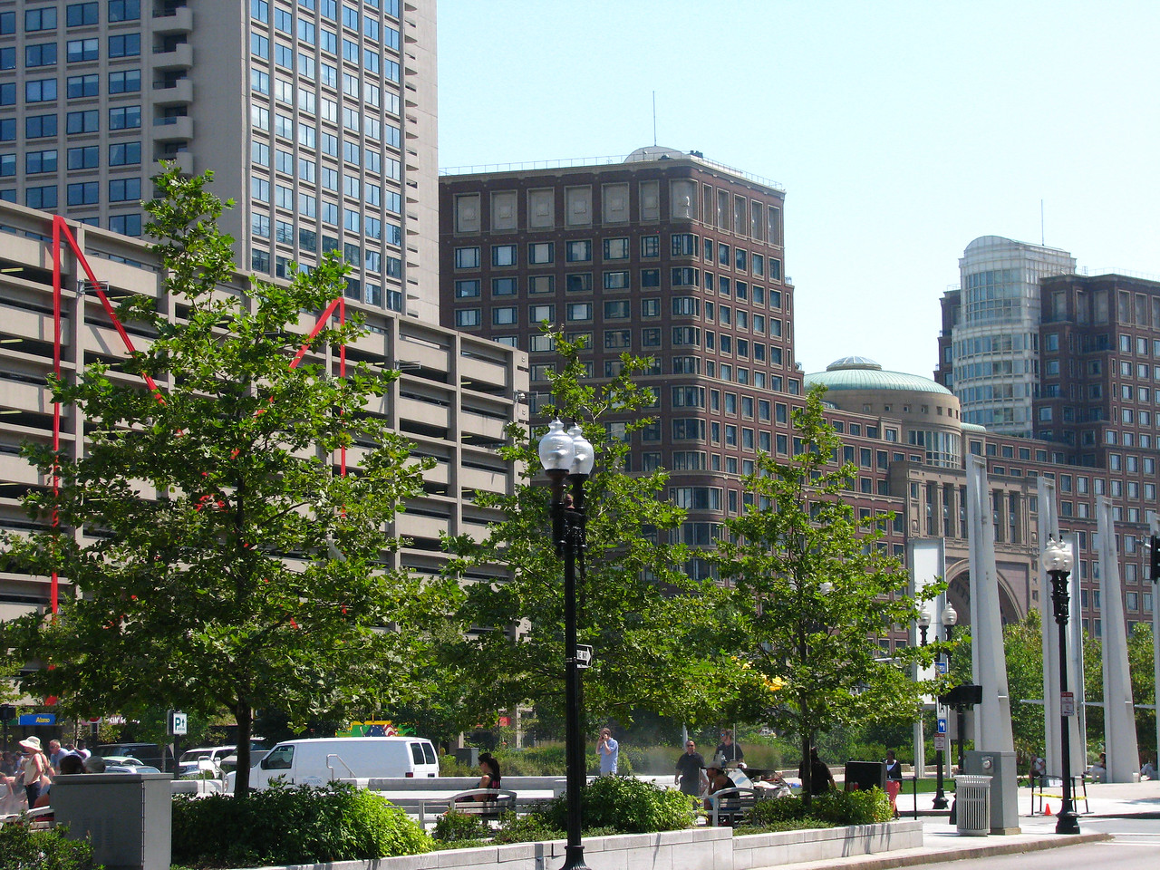 Downtown near Boston Harbor.
