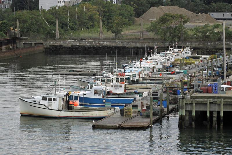 Boston working lobster boats.