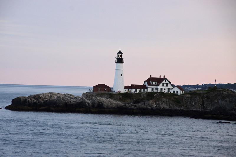 Portland Head Lighthouse as we leave Portland Maine.