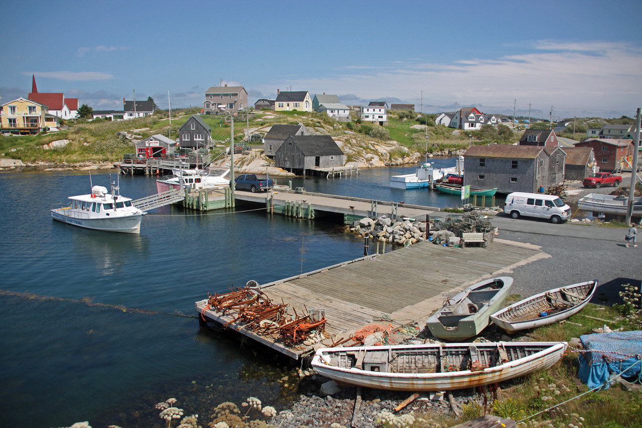 Peggy's Cove with less than 100 residents.