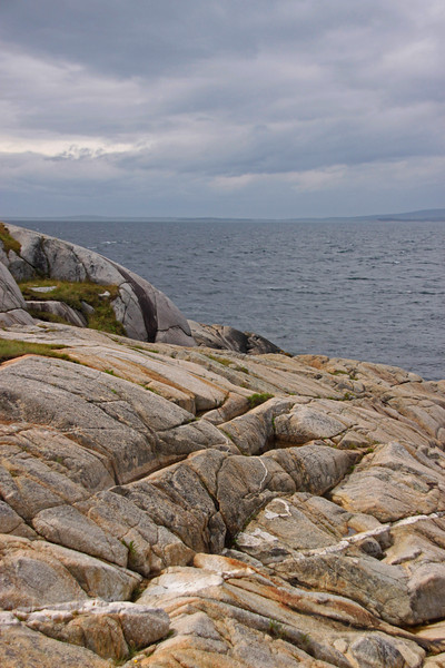 Peggy's Cove Rock Coastline.  No Graveyard here.  Have to go inland to find soil deep enough.