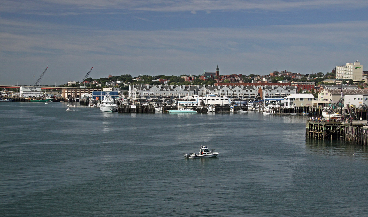 Coming into port in Portland Maine