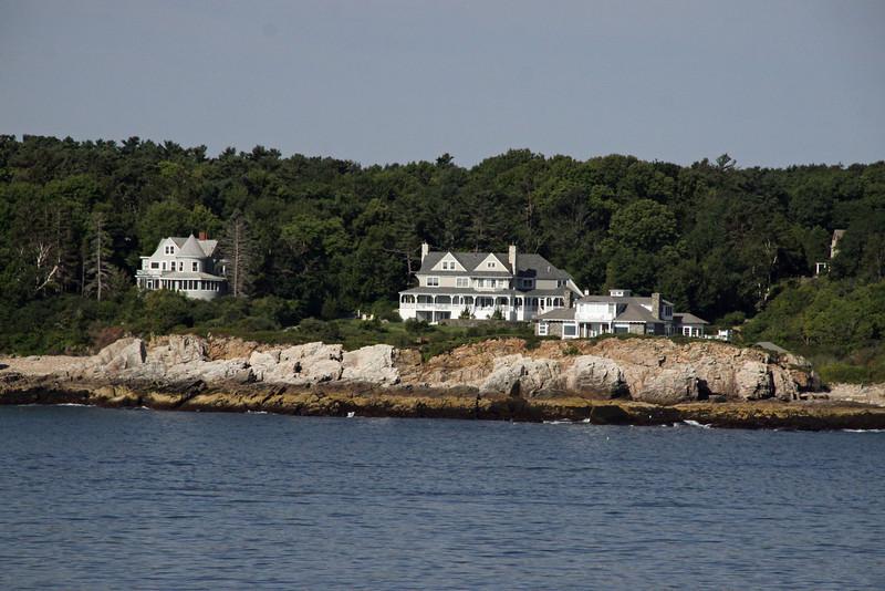Maine Coastline homes on the way to Portland Maine.