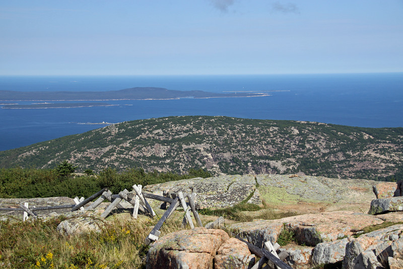 View from Cadillac Mountain in Acadia National Park.