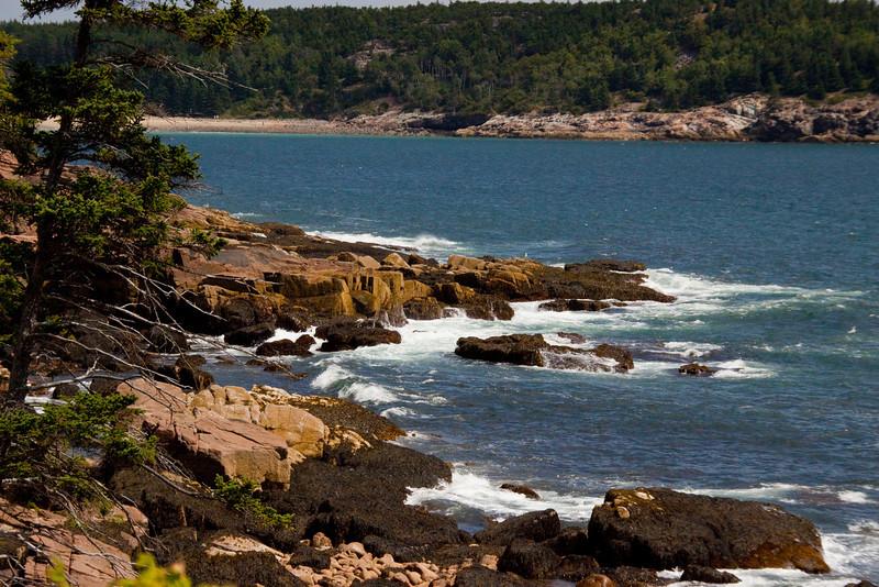 Acadia National Park Maine coastline.