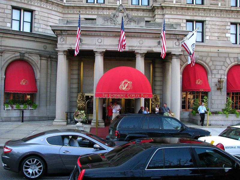 Fairmont Copley Plaza Hotel in Boston.