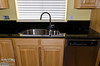 This is a close-up of the sink area, and you can see the cut-out for the window ledge.