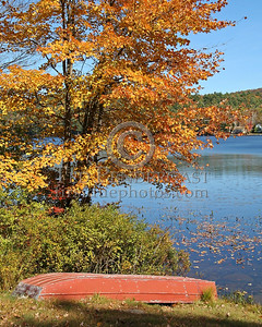 Rowboat At Harrisville Pond - Harrisville,NH