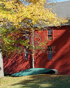 Barn Building And Canoes - Main St At Island St - Center Village - Harrisville,NH