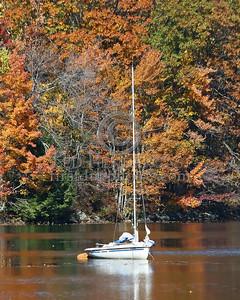 Sailboat At Harrisville Pond - Harrisville,NH