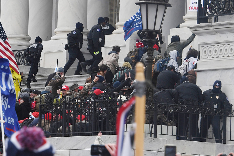 1/6/20- U.S. Capitol- Washington DC<br /> <br /> President Trump's supporters storm the U.S. Capitol as the Congress is meeting in a joint session to count each state's electoral votes.