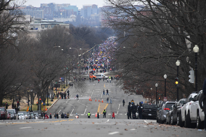 1/6/20- U.S. Capitol- Washington DC<br /> <br /> President Trump's supporters storm the U.S. Capitol as the Congress is meeting in a joint session to count each state's electoral votes. Thousands of protesters approach the Capitol.