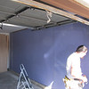 Finally finishing the last bare wall in the garage with insulation and drywall.  Tape and paint left, then shelving can go back up