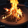 I built a fire in the firepit in my backyard.  It was a gorgeous evening for it --- who brought hot dogs???