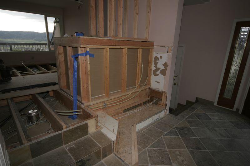 8/25/05 - Entry stairway enclosure