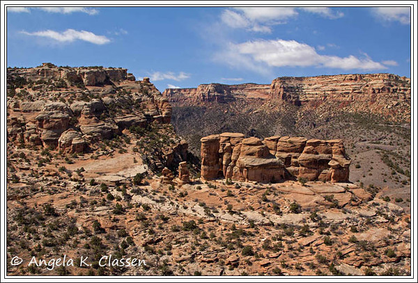The Devil's Kitchen, as seen from above on the Old Gordon Trail, Colorado National Monument