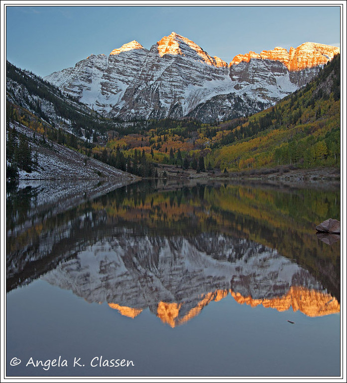 Maroon Bells, near Aspen, Colorado