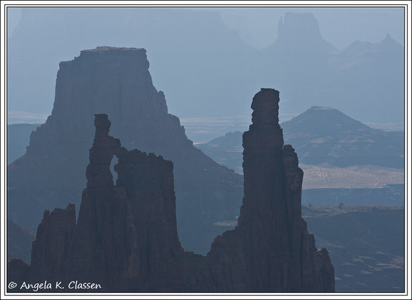 Washer Woman Arch, shot from the Mesa Arch area, Canyonlands National Park, Utah