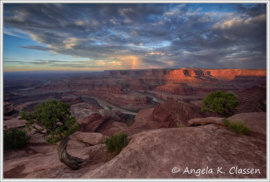 Sunrise Rainbow, Dead Horse Point State Park, Moab, Utah