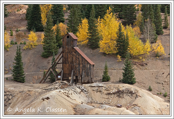 The Yankee Girl Mine is probably one of the most photographed old historic mines in Colorado likely because of its close proximity to scenic Highway 550