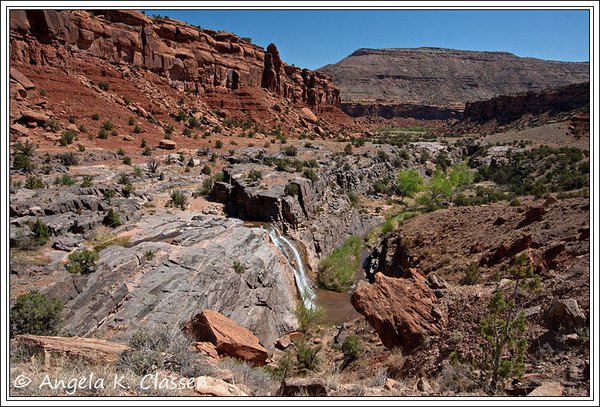 Waterfall in Dominguez Canyon near Grand Junction