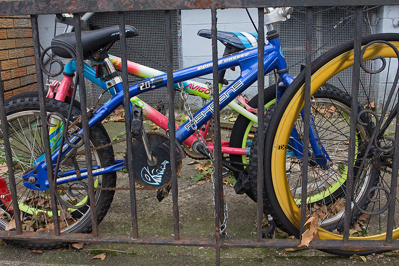 BMX bikes, Jersey City<br /> ©2020 Peter Aldrich