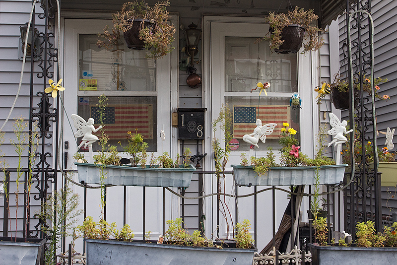 Porch details, Jersey City<br /> ©2019 Peter Aldrich