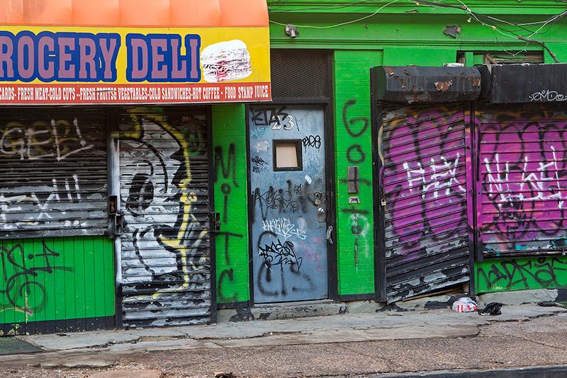 Abandoned stores along Crane Street, Newark<br /> ©2019 Peter Aldrich