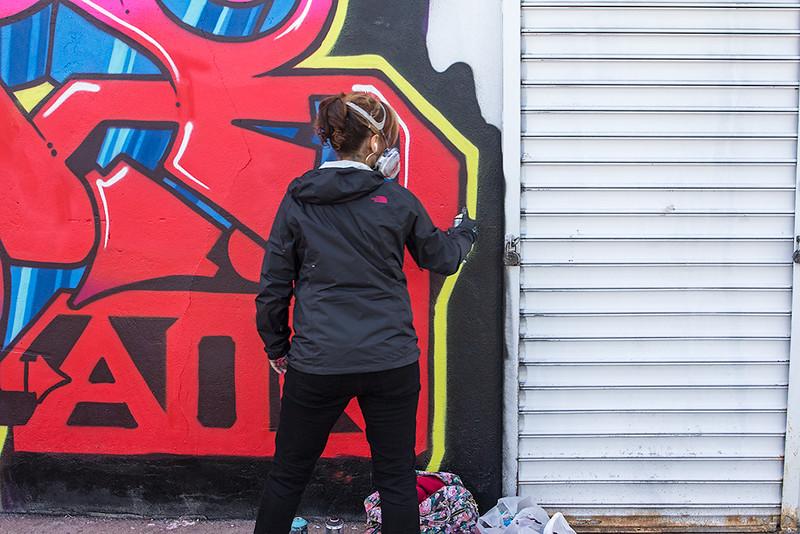 Mural artist, Jersey City<br /> ©2015 Peter Aldrich