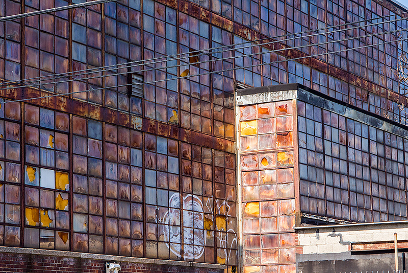 Factory windows, Kearny, NJ<br /> ©2018 Peter Aldrich