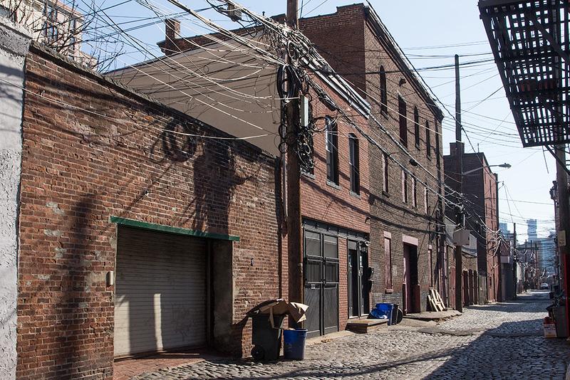 Cobblestone alley, Hoboken<br /> ©2018 Peter Aldrich