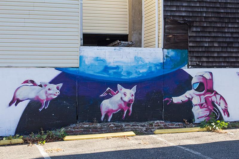 Side lot mural, Jersey City<br /> ©2015 Peter Aldrich