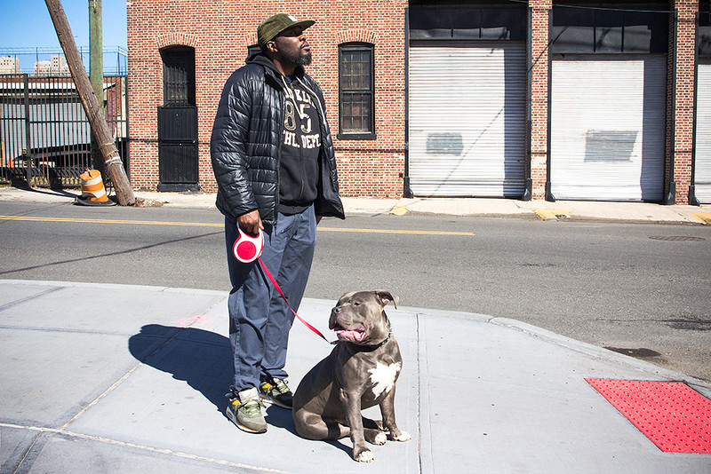 Chauncey and his pit, Jersey City<br /> ©2017 Peter Aldrich