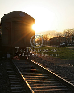Sunset On The Rails - Central Railroad Of New Jersey Terminal at Liberty State Park in Jersey City New Jersey