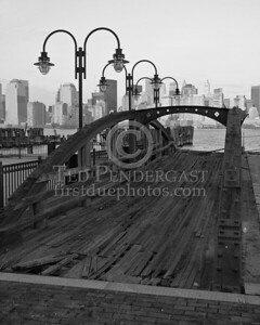 Old Ferry Pier - Central Railroad Of New Jersey Terminal at Liberty State Park in Jersey City New Jersey