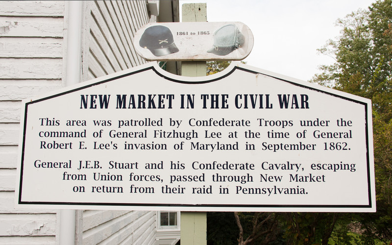 Like so much of this area New Market was touched by the civil war