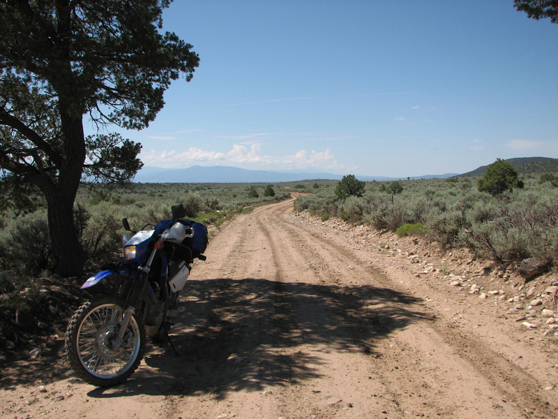 Took a break to review the GPS and make sure I was on the right track to hwy 285.  Lots of mud, and great views.