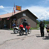 Had lunch at a nice little place called the Alamo.  Right of off hwy 84 about 12 miles before Chama.  Here we are getting ready to head out.