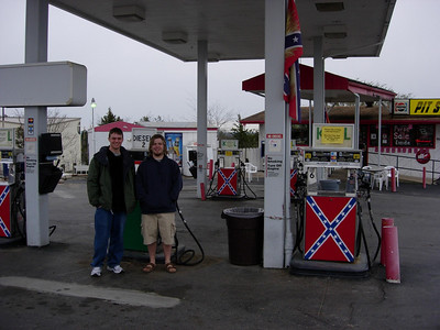 "Branson, MO gas station....: ""Political Correctness?  We don't need no stinkin' political correctness!!!""    We found this gas station funny in a horrible, awful way and had to take a picture.  We are sorry."