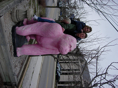 Branson's Pink Gorilla: Todd and I ride the pink gorilla.  For full effect tilt your head 90 degrees or pick up your computer and set it down sideways (please only attempt this with laptops).  I may fix this later if enough people complain about it.