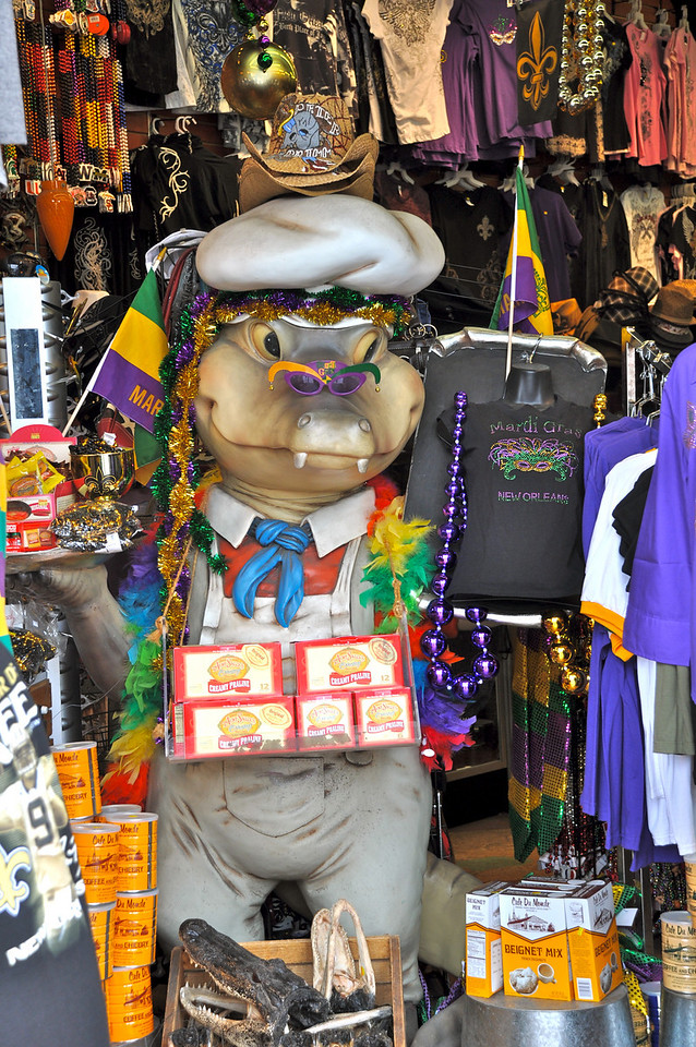 Mardi Gras Gator - French Quarter NOLA.