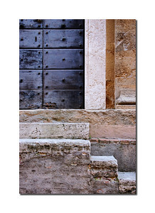 Old Door & Steps, Pienza, Italy
